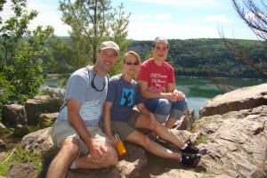 I'm with my family at Devil's Lake State Park in Wisconsin.