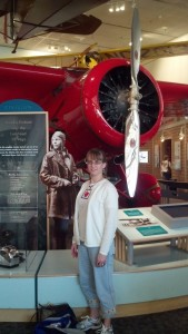 Here I am with Amelia and her plane at the Smithsonian.