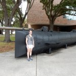 Model of the USS Hunley.  We didn't encounter any ghosts, but maybe they haunt the real submarine.